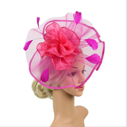 $enCountryForm.capitalKeyWord UK - Feather screen bride's headdress big hat party decoration in Europe and America