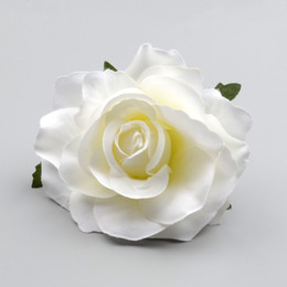 $enCountryForm.capitalKeyWord NZ - 30pcs Large Artificial White Rose Silk Flower Heads For Wedding Decoration Diy Wreath Gift Box Scrapbooking Craft Fake Flowers J190707