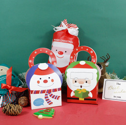 $enCountryForm.capitalKeyWord NZ - 2019 Santa Claus Snowman Double faced pattern gingerbread cookie box handmade biscuit packing boxes candy gift package box