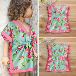 $enCountryForm.capitalKeyWord Australia - 2019 Toddler Floral Sleepwear Robes Baby Girls Sleepdress Floral Print Tassel Bathrobe V Neck Sleepwear