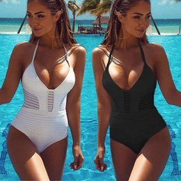 $enCountryForm.capitalKeyWord Australia - One Piece Swimsuit Plus Size Swimwear Women 2018 Swimsuits 3 Colors Bathing Suit Monokini Swimming Wear Bikini Set Tankini Suit Y19072401