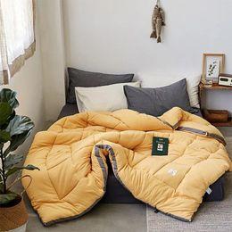 $enCountryForm.capitalKeyWord Australia - Luxury thicken winter camel hair quilt quality stitching comforter duvet blanket king queen twin size free shipping