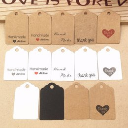 $enCountryForm.capitalKeyWord Australia - 1000 pcs 3x2cm hand made with love Kraft paper tags Thank you labels bag label handmade paper gift tag handwork price tags