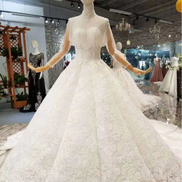 $enCountryForm.capitalKeyWord NZ - Luxurious Wedding Dresses Tassel Beads Beading Sequins Embroidery Ball Gown Wedding Dresses Vintage High Neck Bridal Gowns Dresses
