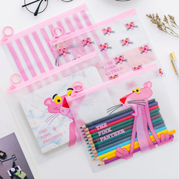 $enCountryForm.capitalKeyWord Australia - Pink Leopard Animal Transparent Travel Cosmetic Bag Make Up Case Makeup File Bag Women Organizer Toiletry Storage Kit Box