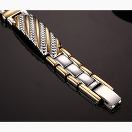 $enCountryForm.capitalKeyWord Australia - Vinterly Steel Mangeitc Bracelet Male Hand Chain Health Energy Bracelet Men Stainless Steel Bio Magnetic Bracelets For Men Women