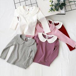 $enCountryForm.capitalKeyWord Australia - Childhood Baby Toddler Girls T Shirt Tops Kids T Shirts Cotton Girl Shirts Peter Pan Collar White Blouse Tees Children's Clothes