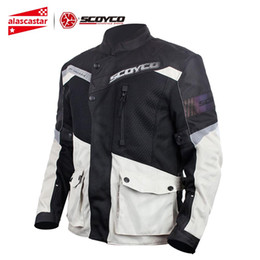 Nylon Mesh Motorcycle Jacket Australia - SCOYCO Motorcycle Jacket Men Breathable Mesh Chaqueta Moto Jacket Motocross Riding Protective Gear Motorcycle Clothing