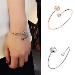 $enCountryForm.capitalKeyWord Australia - Luxury Hollow Ball Gold Color Cuff Bracelet Adjustable Metal Bangle For Women High Quality Birthday Gift Fashion Jewelry Wholes