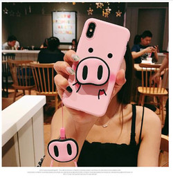 Wholesale best pigs for sale – custom Best Phone Case For iPhone s Plus Plus X XS XR Max Plus Case Pig Nose Soft TPU Phone with Strap Rope Case