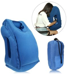 Travel Support Pillow Australia - Inflatable Travel Office Pillow Air Soft Cushion Trip Portable Innovative Body Back Support Foldable Blow Neck Protect Pillow