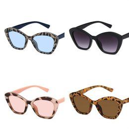 caa7db4145 Ojo de gato gafas de sol para mujer leopardo de impresión Sunglass Pentagon  Vintage Sun Glass plástico Jelly Color luz polarizada 5kdc D1
