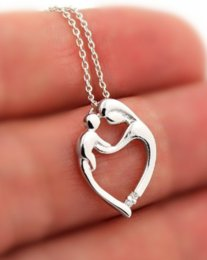 Pendant mother child online shopping - 12pcs silver Mother and Child necklace Family pendent necklace mother s day gift