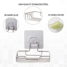 classic nails Canada - Soap Dish Holder For Bathroom Shower Wall Mounted Self Adhesive Nail Free No Drilling Soap Holder Saver Tray-Stainless Steel Spo Bathroom St