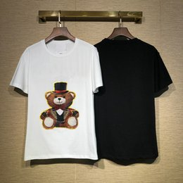 Wholesale Designer Brand Men Tshirt Luxury T shirt Fashion Letter Bear Toy Classic T Shirts Cotton Clothing Casual Tee Tops spring