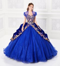 $enCountryForm.capitalKeyWord Australia - 2019 Ball Gown Quinceanera Dresses Beaded Bodice Corset Tulle Layered Embroidery Prom Dress Royal Blue Glitter Princess Dresses Lace-up