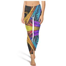 $enCountryForm.capitalKeyWord UK - 2019 Trippy Art design High Waist Yoga Pants Womens Gym Yoga Pants Breathable Unique Tights Capri Leggings Black