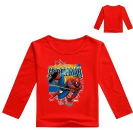kid red tshirts UK - Black and Girls Stitching Long Sleeve T-Shirts For Boys Girls Tops Kids Luminous Tshirts Teenage Size 100-14 age 2-12Y