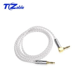 Audio Jack 3.5mm Australia - 3. 5MM To 3. 5MM Jack Audio Cable Single Crystal Copper Silver Plated Fever 3.5MM Audio For Car Computer Audio Mobile Phone