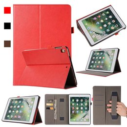 Asus Tablet Stands Australia - PU Imitation Leather ipad Case For ipad 11 inch ipad AIR With Folding Stand Dormancy PU Leather Tablet Protective Shell