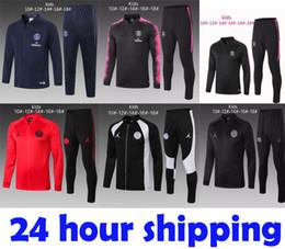 Kids Jackets S Letter Canada - New kids Psg tracksuit 2019 2020 psg soccer jogging jacket MBAPPE POGBA 18 19 Paris child football training suit