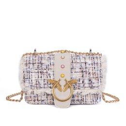 $enCountryForm.capitalKeyWord Canada - Wool gemstone swallow bag Plush Chain Pack New type of oblique Bag Lady's straddle bag Retro Baitao Inclined Spanning Pack Baitao Fashion Wo
