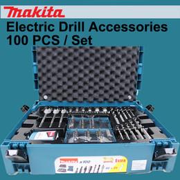 Venta al por mayor de Japón Makita Metal Carpintería Brocas Destornillador Cabeza Cilindro Caja de herramientas Accesorios de taladro eléctrico 100 unids / set