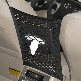 Abs Storage Case NZ - heap Stowing Tidying 1Pc Car Seat Back Mesh Net Organizer Storage Bag Strong Elastic Holder for Between Seats Chair Pocket Barrier Black ...