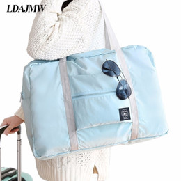 Storage Packs Australia - Dropshipping Casual Large Capacity luggage Packing Tote Shoulder Travel Shopping Big Bag Folding Clothes Storage Pouch