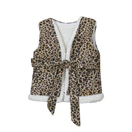 $enCountryForm.capitalKeyWord Australia - kids designer clothes girls Leopard print Waistcoat children vest Outwear 2019 Autumn Winter Leopard Coat Boutique baby Clothing C606