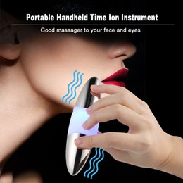 $enCountryForm.capitalKeyWord Australia - Portable Facial Micro-vibration Massager Handheld Time Ion Instrument Face Eye Massager Essential Oil Boosterface Skin Beauty J190629