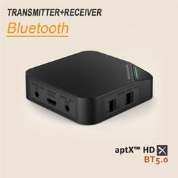 Usb Fiber Adapter NZ - CSR8675 Bluetooth 5.0 2 in 1 Transmitter Receiver Fiber Optic Bluetooth Adapter aptX HD audio 3.5mm for TV Headphone Car PC