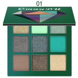 green eye shadow palette Australia - 9 Colors Professional Long-lasting Fashion Make Up Highlight Charming Eye Shadow Palette Cosmetics Shimmer Rich Layers