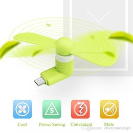micro fans UK - Top seller Mini Micro USB Fan Cool Mobile Phone USB Fan Portable Cooler Cooling Fan Cell phone For type-c micro USB iPhone x