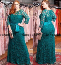 modest mother bride dresses Australia - Vintage green Mermaid Mother Of The Bride Dresses With sheer Lace Appliqued Wedding Guest Dress Plus Size Custom Made modest Mothers Gowns