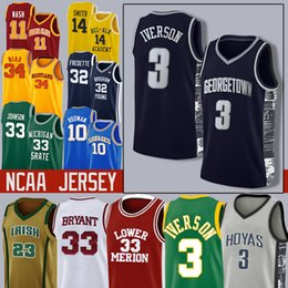 Wade Davis James Durant Embiid Iverson Jokic Homens jovens universitários Basketball Jersey Ewing Lavine Rodman21321 em Promoção