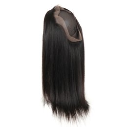 processed straight hair Canada - 9A Straight Hair 360 Lace Frontal Closure with Baby Hair Natural Color 8-20inch Brazilian Remy Human Hair Free Part 360 Frontal Closure