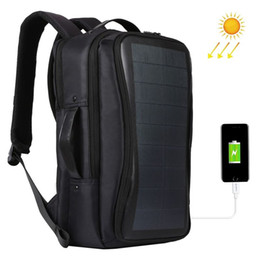 $enCountryForm.capitalKeyWord UK - Haweel Flexible Solar Panel Backpacks Convenience Charging Laptop Bags For Travel 14W Solar Charger Daypacks &Handle &USB Port