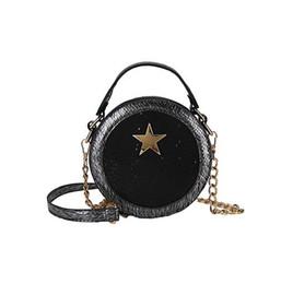 Mesh Fiber Australia - 2019 new trend stars small round bag fashion creative mesh shoulder diagonal bag elegant comfortable ladies handbag