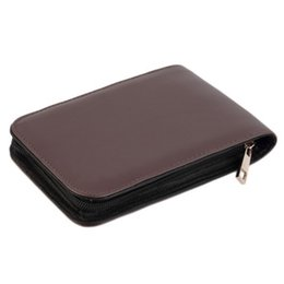 Stationery Bag Leather Australia - Durable Pencil Pen Case Holder Organizer Bag Student Stationery Supplies School Office Artificial Leather Fountain Roller