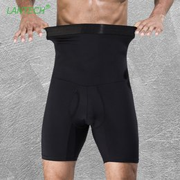 Black Compression Shorts Australia - Lantech Men Compression Stomach Shapers Bodybuilding Tight Underwear Boxers Running Box Exercise Fitness Gym Shorts C190420
