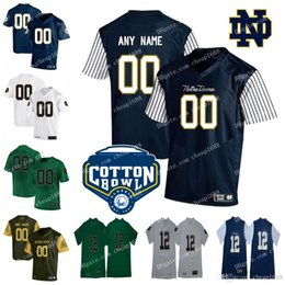 5985b1d340c Custom Mens Womens Kids Notre Dame Fighting Irish Shamrock Series stitched  Any Name Any Number NCAA Cotton Bowl College Football Jerseys