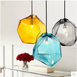 Crystal Cafe online shopping - Modern minimalist Cafe Bar Lights Industrial Living Room Crystal Glass Pendant Lighting