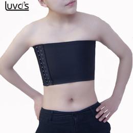 30d856e526b523 Les Lesbian Short Chest Breast Binder Trans Vest Tops with Shoulder Straps  Plus Size S-5XL Undershirt Tomboy Breathable Buckle