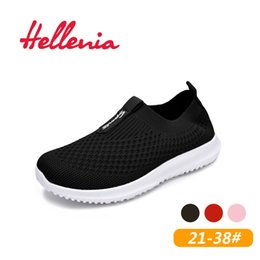 $enCountryForm.capitalKeyWord NZ - Helleniagirls Kids Shoes Kid Girls Children Breathable Air Mesh Casual Flats Light Walking Summer Girl Shoes Children Slip On Y19051403