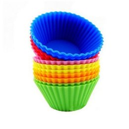 $enCountryForm.capitalKeyWord UK - Silicone Cupcake Moulds Muffin Moulds Cupcake Cases Non-Stick Heat Resistant Baking Molds Food Grade candy color LX5916