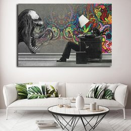 Marvel Canvas Prints Australia - Venom Poster Marvel Superheroes Movie Abstract Art Canvas Poster Painting Wall Picture Print For Home Bedroom Decoration