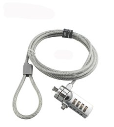 Laptop Cable Locks NZ - Laptop Computer Lock Wire Anti-Cut Ati-Theft Cable 1.5M Password Type Silver Color for HP Lenovo ASUS Dell