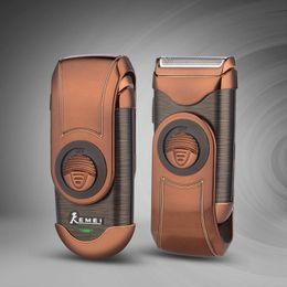 de Homens barbeador elétrico de barbear Máquina de flutuação 3D recarregável Navalha Única lâmina alternativa Shaver Com Sideburns Trimmer 0 em Promoção