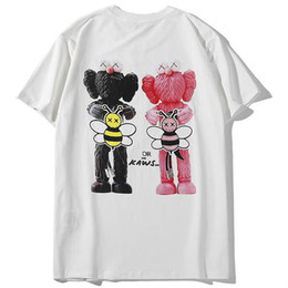 $enCountryForm.capitalKeyWord UK - Europe and the United States tide brand doll print t-shirt men and women with the same couple short-sleeved youth casual half sleeve